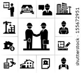 construction project manager | Shutterstock .eps vector #155672951