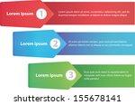 design template numbered line... | Shutterstock .eps vector #155678141