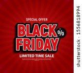 black friday sale banner... | Shutterstock .eps vector #1556818994