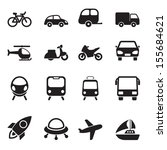 transport icons | Shutterstock .eps vector #155684621