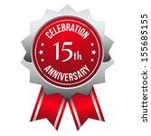 silver red fifteen year... | Shutterstock .eps vector #155685155