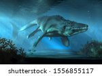 An Mosasaurus Swims Towards You ...