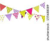 bunting flags  vector... | Shutterstock .eps vector #155688089