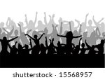 dancing people vector... | Shutterstock .eps vector #15568957