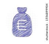 money bag with euro. full...