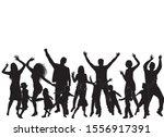 vector silhouette of family.... | Shutterstock .eps vector #1556917391