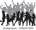 vector silhouette of family.... | Shutterstock .eps vector #1556917394