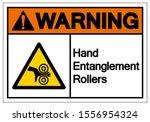warning hand entanglement... | Shutterstock .eps vector #1556954324
