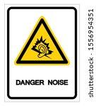 danger noise symbol sign ... | Shutterstock .eps vector #1556954351
