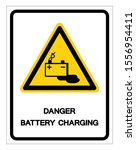 danger battery charging symbol... | Shutterstock .eps vector #1556954411