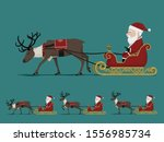 isolate santa  claus on city... | Shutterstock .eps vector #1556985734