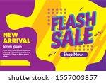 flash sale banner template...   Shutterstock .eps vector #1557003857