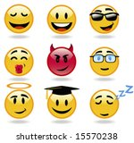 emoticon set  from cool and...