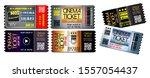 set of cinema tickets in... | Shutterstock .eps vector #1557054437