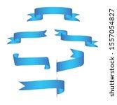 set of blue banner blue  web... | Shutterstock .eps vector #1557054827