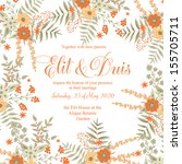 wedding invitation | Shutterstock .eps vector #155705711
