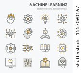 machine learning icons  such as ... | Shutterstock .eps vector #1557060167