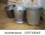 close up of three buckets | Shutterstock . vector #155718365