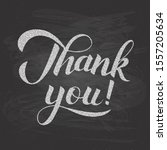 thank you calligraphy hand... | Shutterstock .eps vector #1557205634