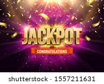 shining sign jackpot with... | Shutterstock .eps vector #1557211631
