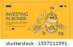 investing in bonds isometric... | Shutterstock .eps vector #1557212591