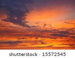 evening colors of the flaming... | Shutterstock . vector #15572545