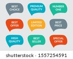 sticker or badge set. promo... | Shutterstock .eps vector #1557254591