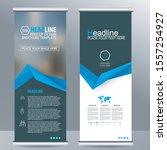 roll up business brochure flyer ... | Shutterstock .eps vector #1557254927