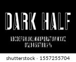 futuristic typography font.... | Shutterstock .eps vector #1557255704