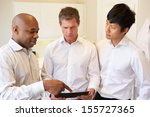 three doctors having discussion ... | Shutterstock . vector #155727365