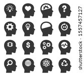 thinking head icons set on... | Shutterstock .eps vector #1557457127