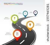 road map timeline infographic...   Shutterstock .eps vector #1557465281
