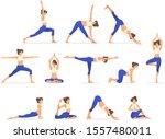 woman activities. set of women... | Shutterstock .eps vector #1557480011