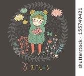 cute zodiac sign   aries....   Shutterstock .eps vector #155749421