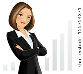businesswoman | Shutterstock .eps vector #155754371