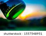 Green Glass Beer Bottle Bottom
