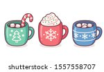 christmas hot chocolate and... | Shutterstock .eps vector #1557558707