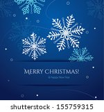 abstract christmas card with... | Shutterstock .eps vector #155759315