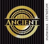 ancient shiny badge. vector... | Shutterstock .eps vector #1557605144