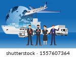 business team  logistics... | Shutterstock .eps vector #1557607364