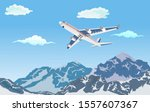passengers airline flying above ... | Shutterstock .eps vector #1557607367