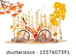 yellow colorfull autumn... | Shutterstock .eps vector #1557607391