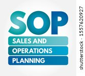 s op   sales and operations... | Shutterstock .eps vector #1557620927