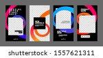 stories template set for banner ... | Shutterstock .eps vector #1557621311