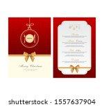 special christmas festive menu... | Shutterstock .eps vector #1557637904
