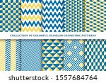 collection of bright seamless... | Shutterstock .eps vector #1557684764