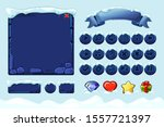 winter game ui stones buttons...