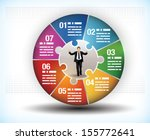 design template of a colorful... | Shutterstock .eps vector #155772641
