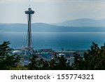 View of famous symbol of Seattle - Space Needle