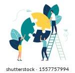 vector illustration  financial... | Shutterstock .eps vector #1557757994